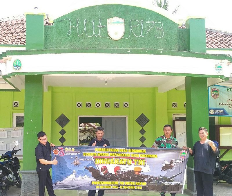 HUT TNI Ke-73 PemDesa Sidaharja bersama Babinsa